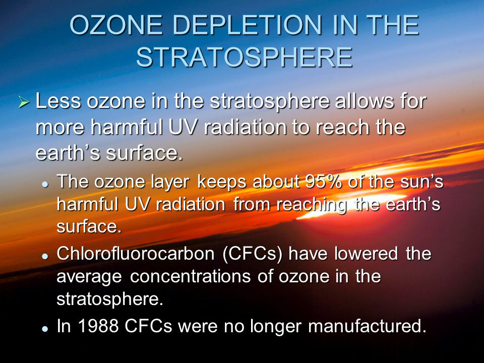 essay on nature depletion As results of ozone depletion, the increased ultraviolet solar radiation in turn would raise the temperature of the earth and thus effect line forms as well as the environment it has been found that ozone layer over the indo-gangetic basin is getting depleted because of weakening of ozone layer.