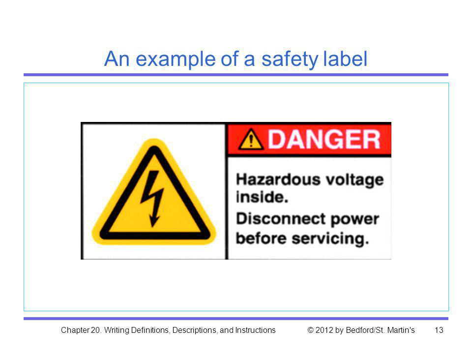 An example of a safety label