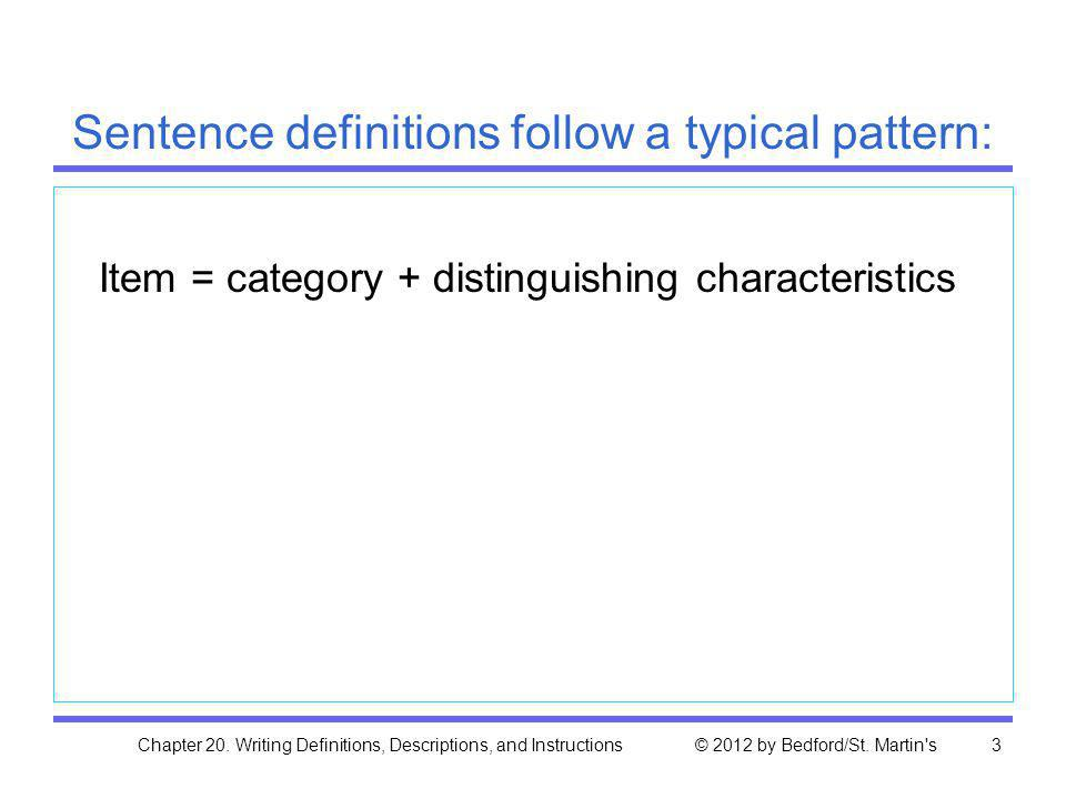 Sentence definitions follow a typical pattern: