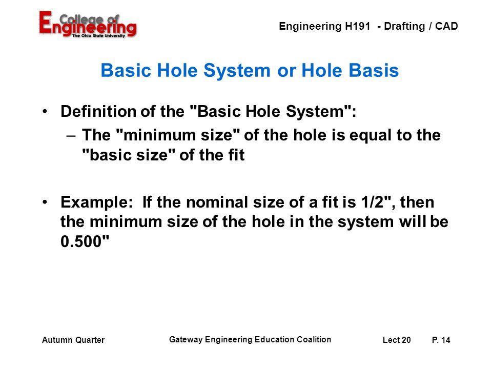 Basic Hole System or Hole Basis