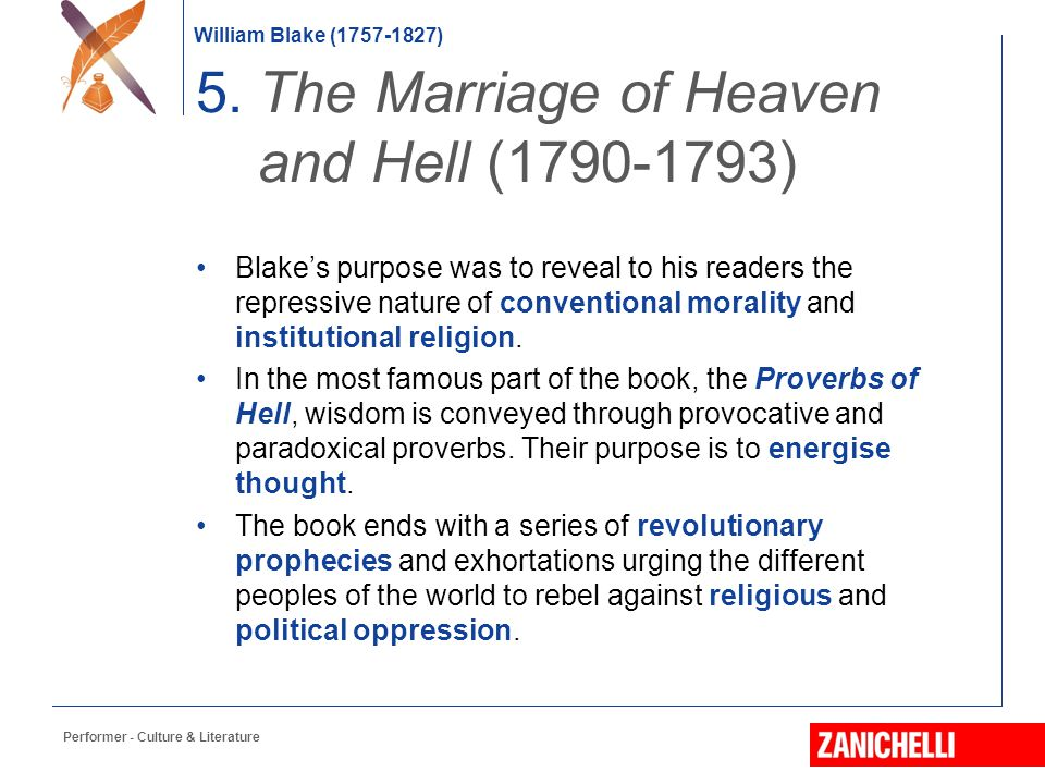 5. The Marriage of Heaven and Hell (1790-1793)