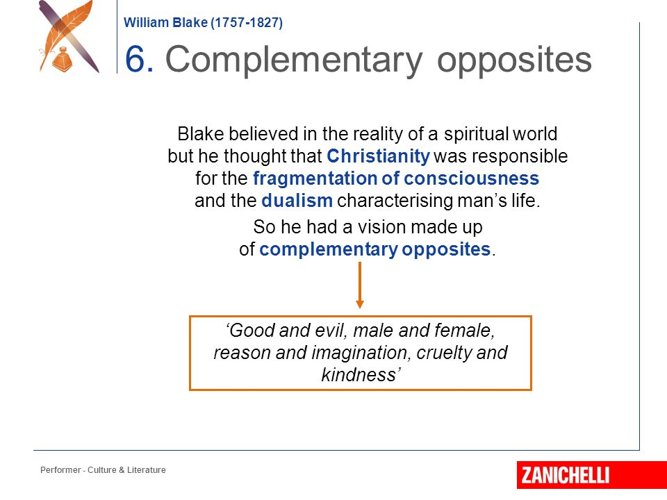 6. Complementary opposites