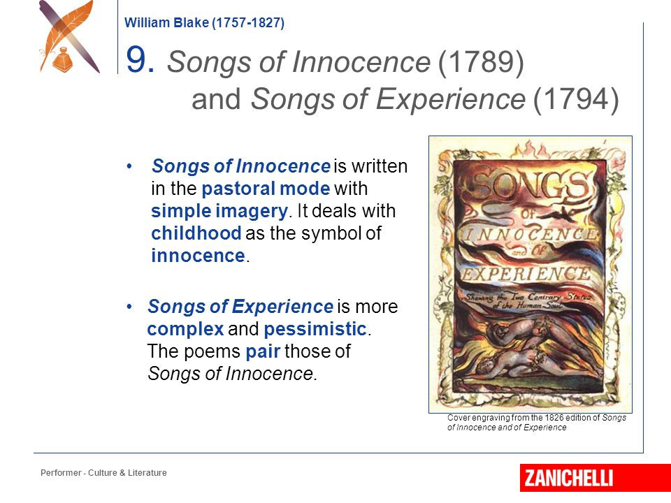 9. Songs of Innocence (1789) and Songs of Experience (1794)