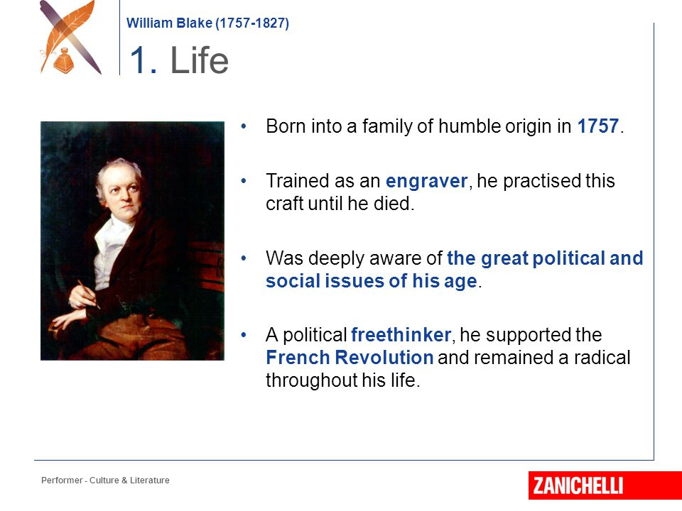 1. Life Born into a family of humble origin in 1757.
