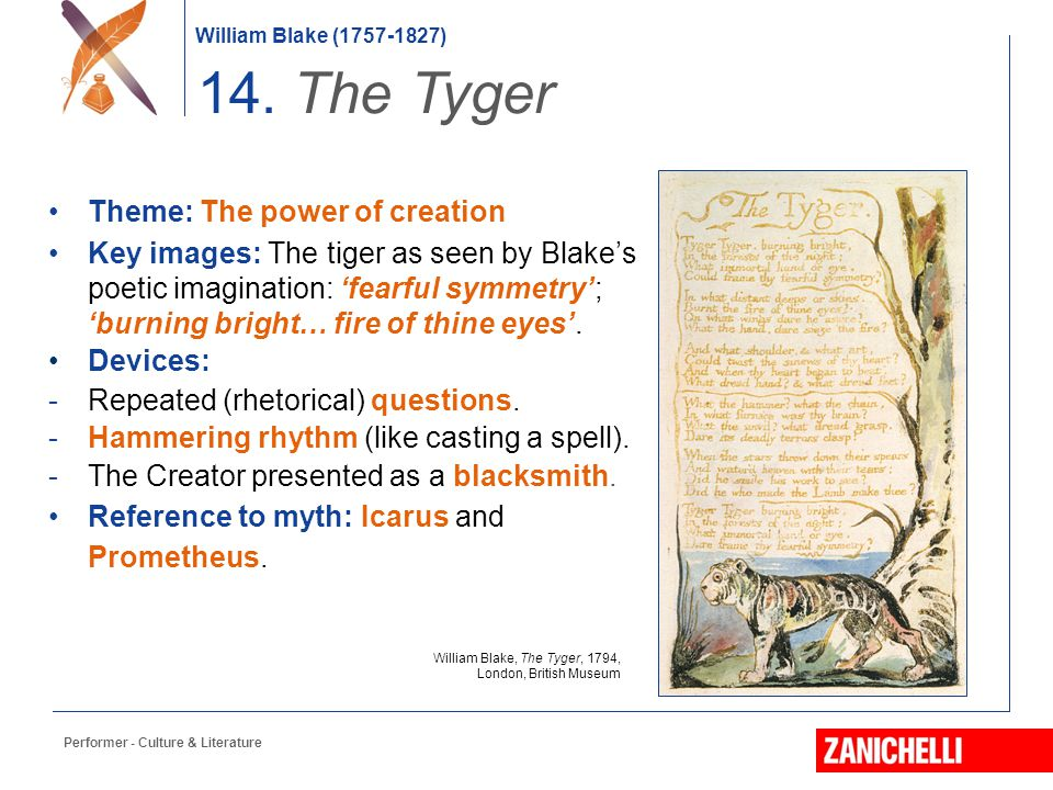 14. The Tyger Theme: The power of creation