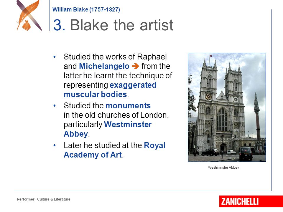 3. Blake the artist