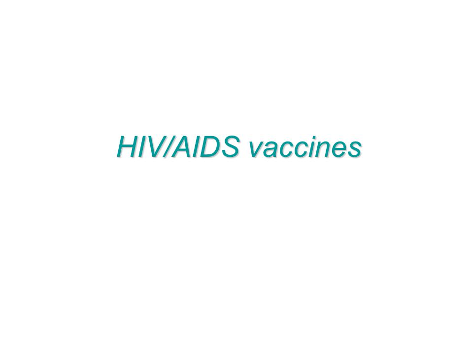 HIV/AIDS vaccines