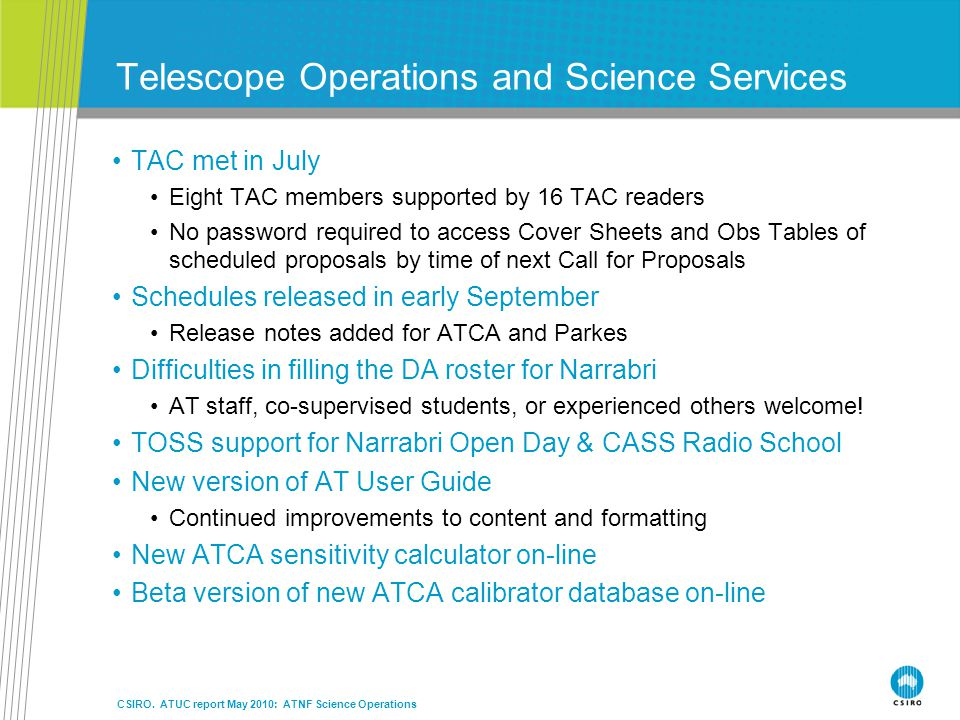 Telescope Operations and Science Services