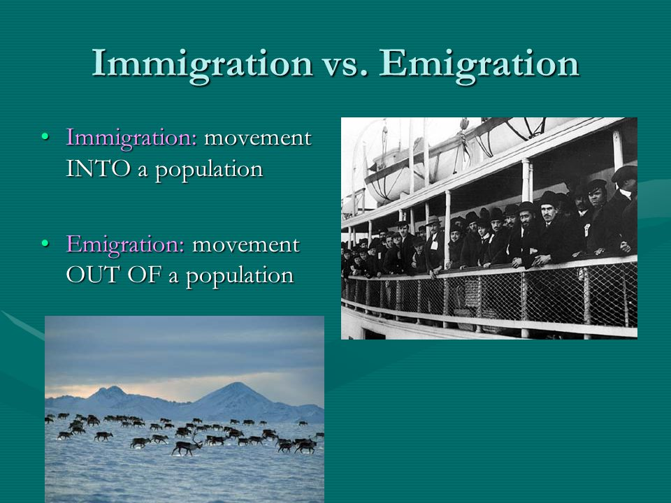 Immigration vs. Emigration