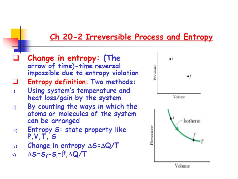 Ch 20-2 Irreversible Process and Entropy
