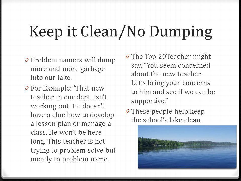 Keep it Clean/No Dumping