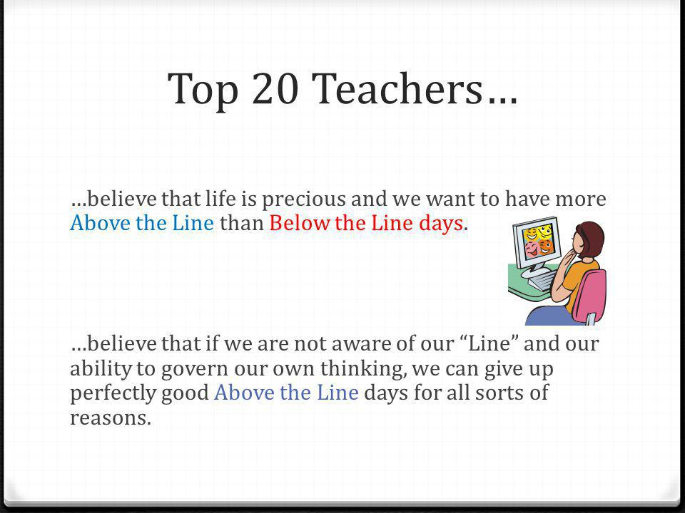 Top 20 Teachers…