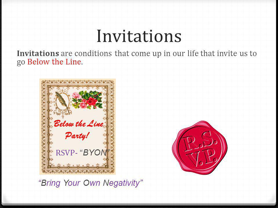 Invitations Below the Line Party!