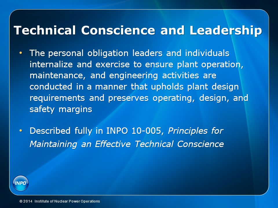 Technical Conscience and Leadership