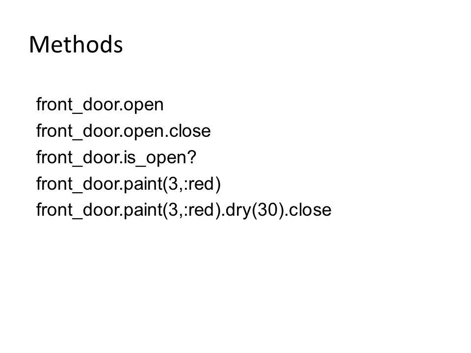 Methods front_door.open front_door.open.close front_door.is_open
