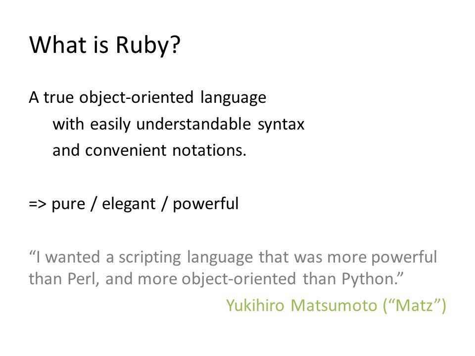 What is Ruby