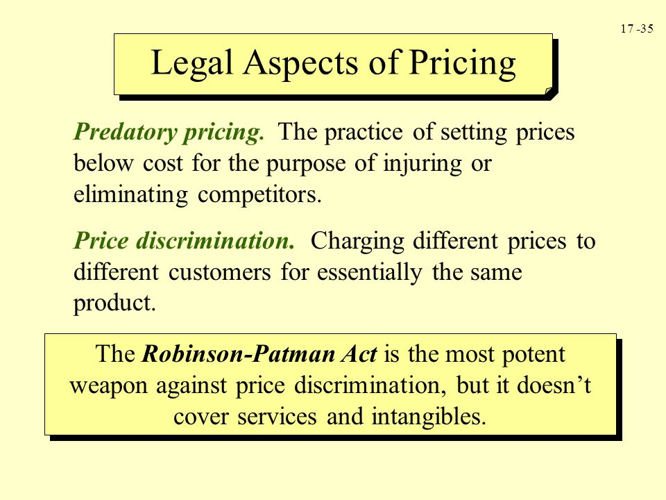 Legal Aspects of Pricing