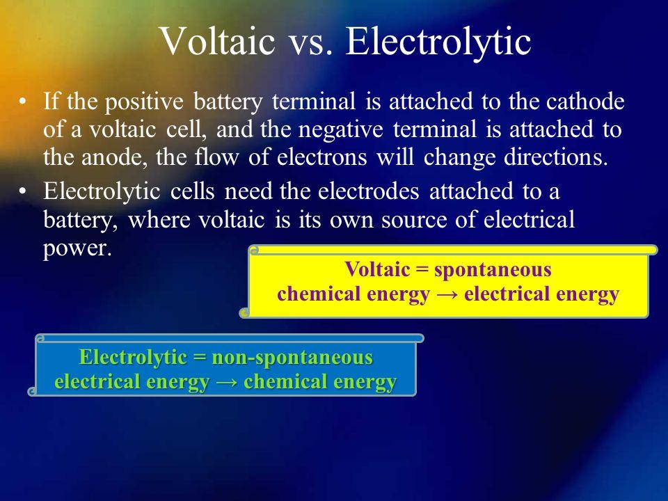 Voltaic vs. Electrolytic