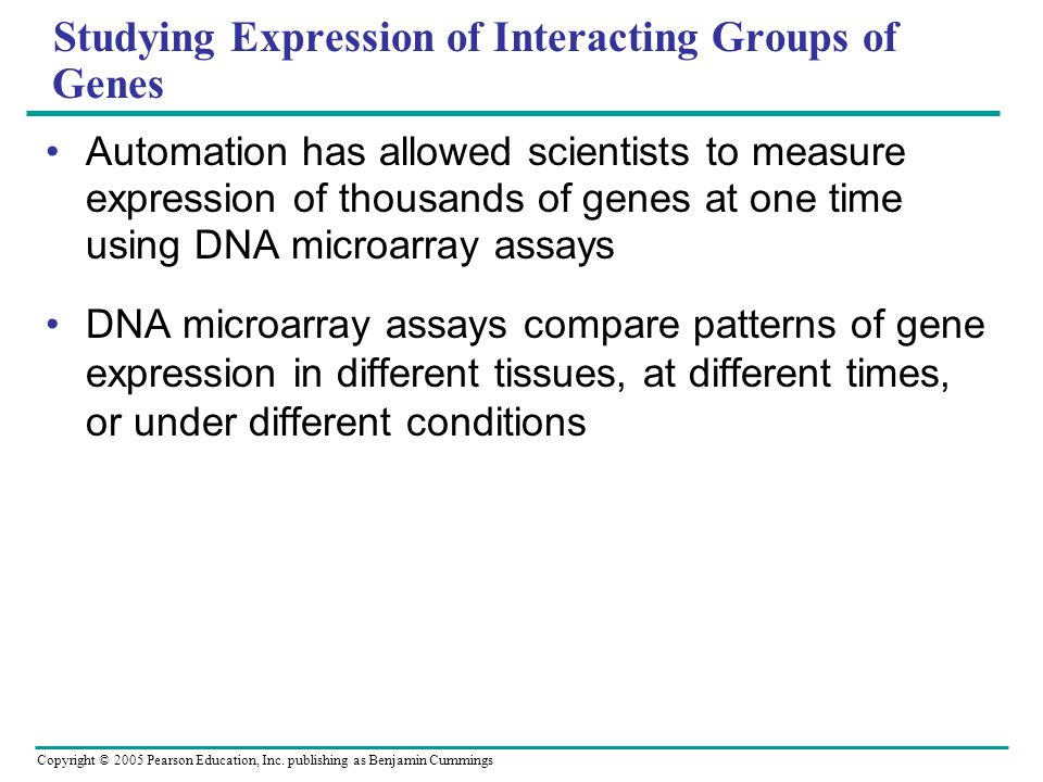 Studying Expression of Interacting Groups of Genes
