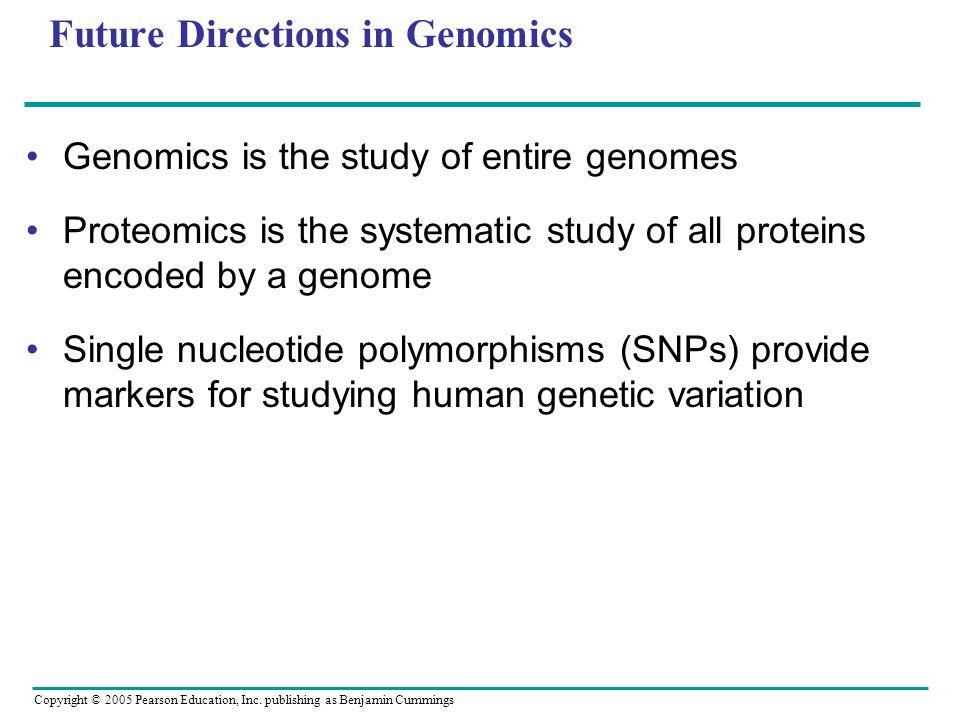 Future Directions in Genomics