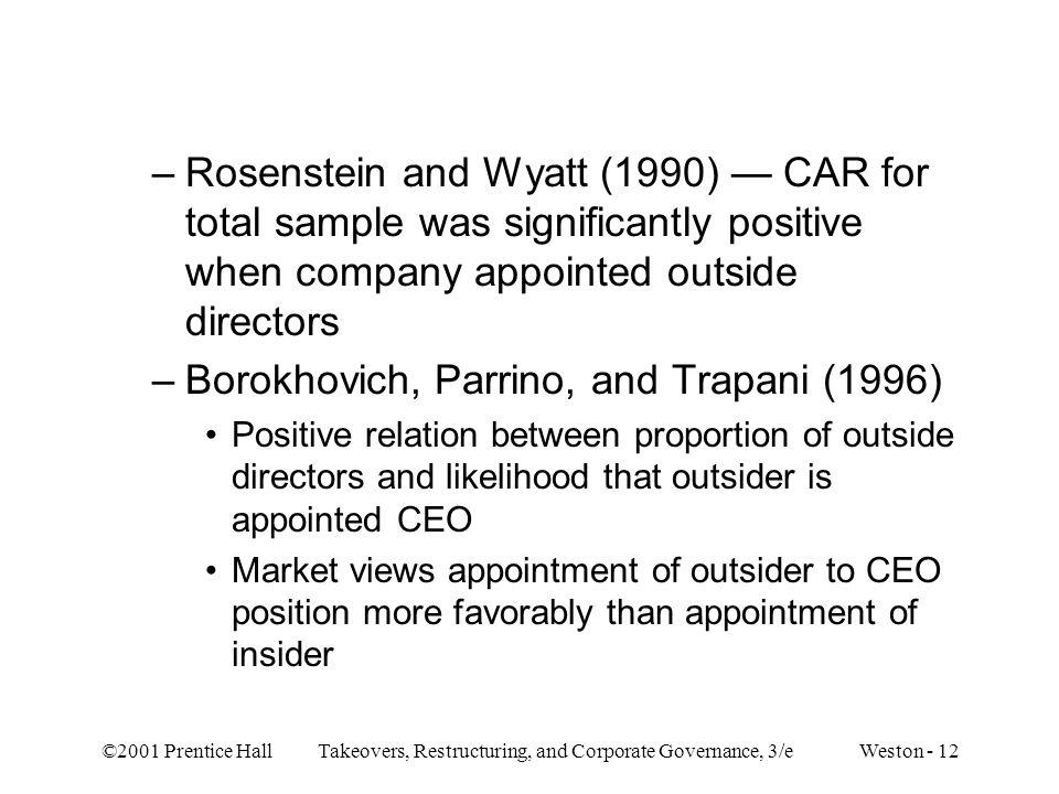 Borokhovich, Parrino, and Trapani (1996)