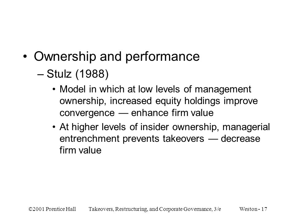 Ownership and performance