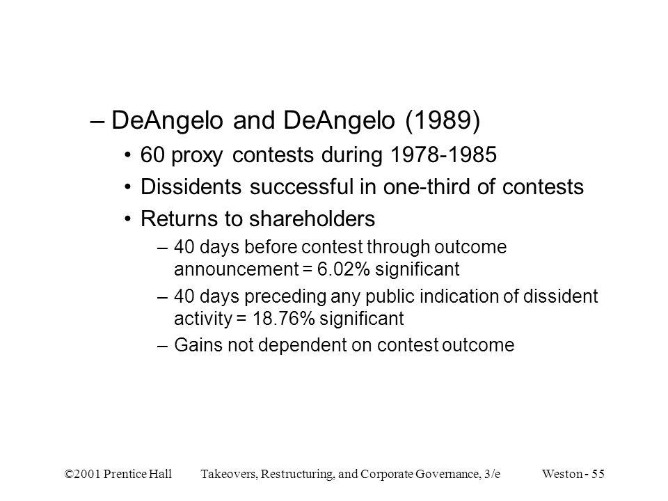 DeAngelo and DeAngelo (1989)