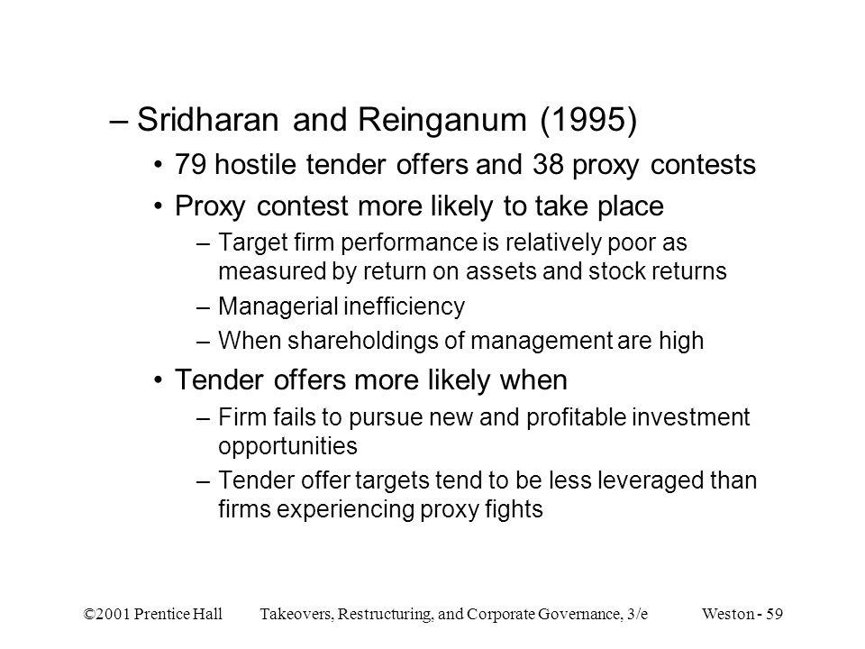 Sridharan and Reinganum (1995)