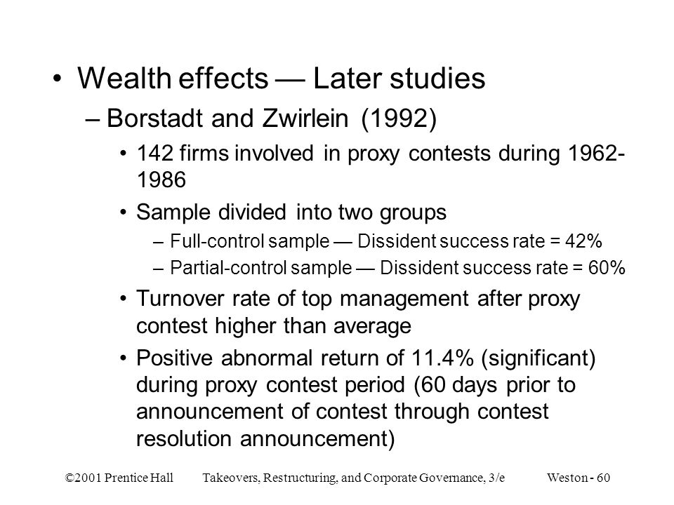 Wealth effects — Later studies