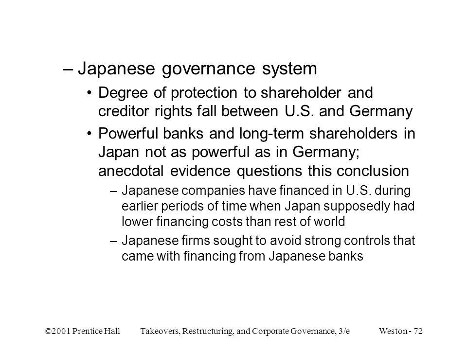 Japanese governance system