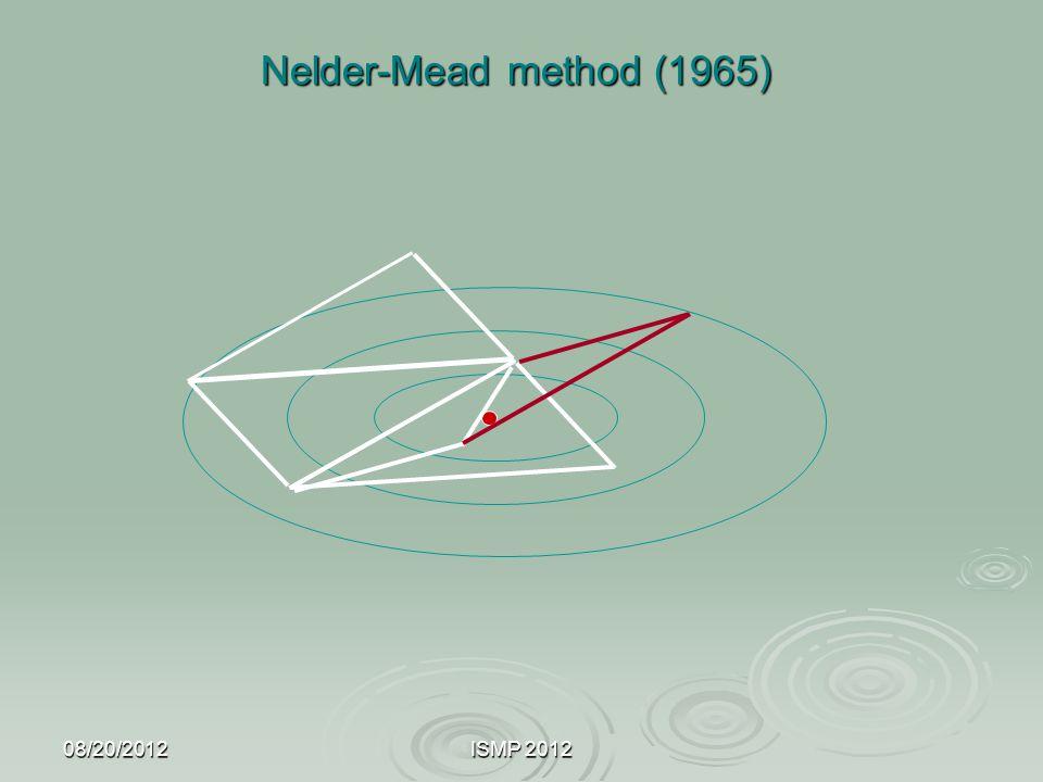 Nelder-Mead method (1965) 08/20/2012 ISMP 2012