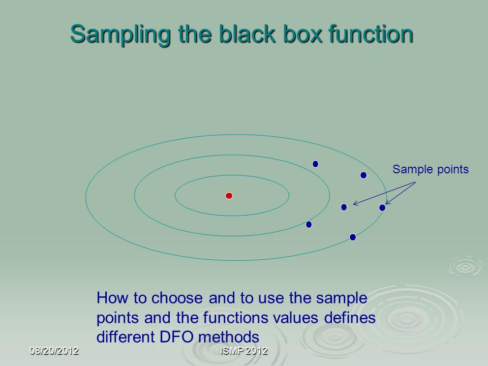 Sampling the black box function