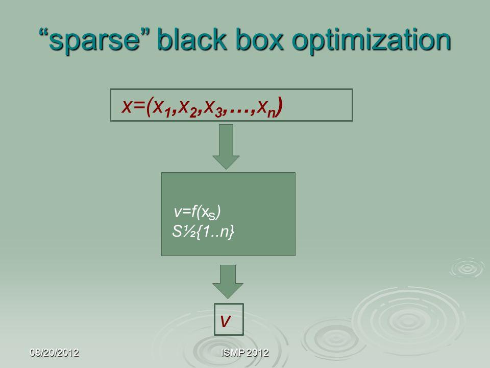 sparse black box optimization