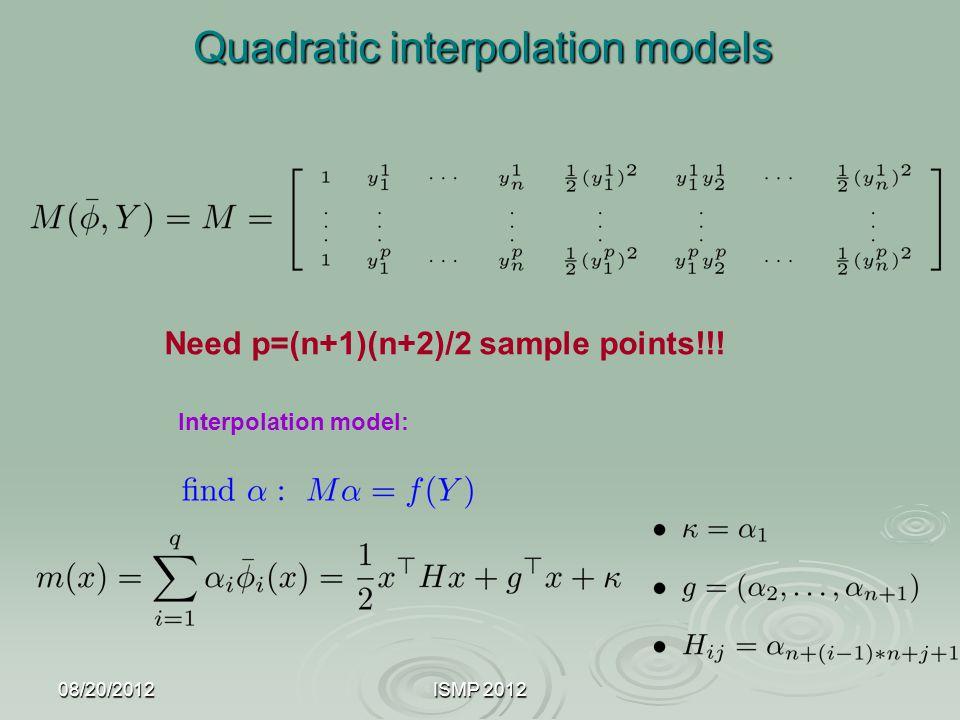 Quadratic interpolation models