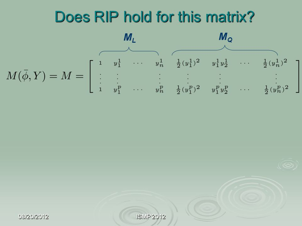 Does RIP hold for this matrix