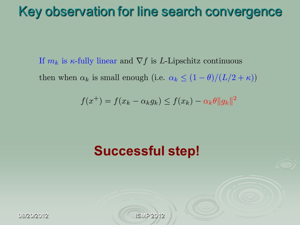 Key observation for line search convergence