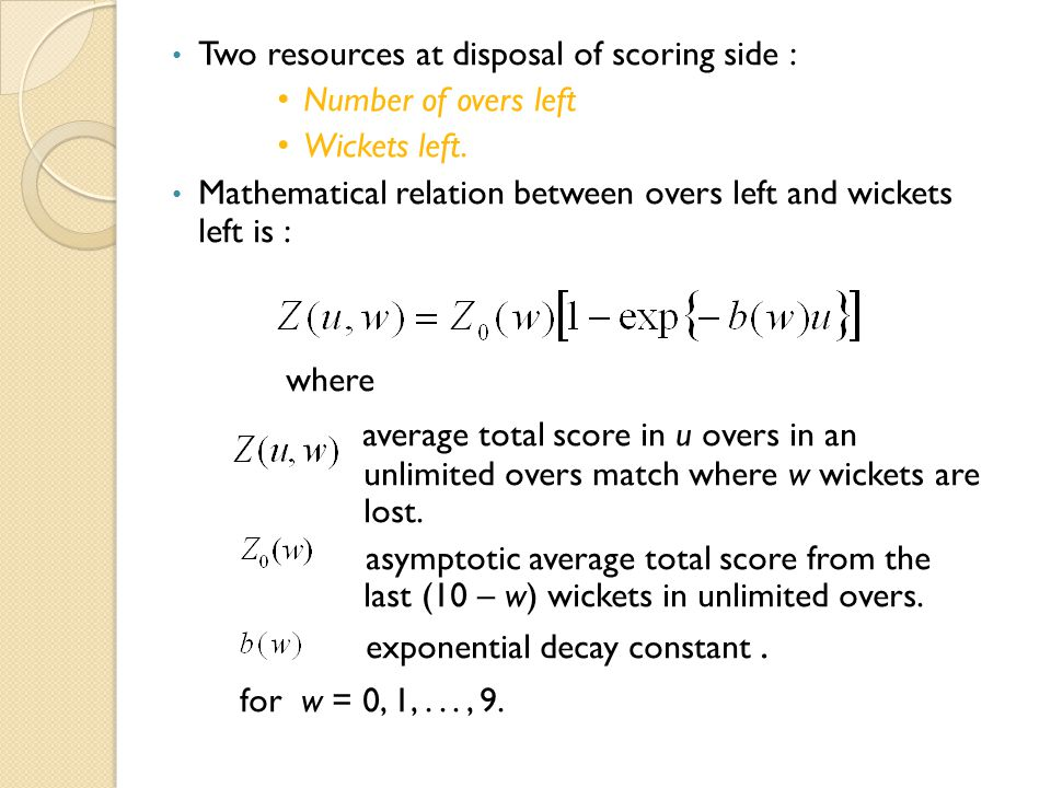 Two resources at disposal of scoring side :