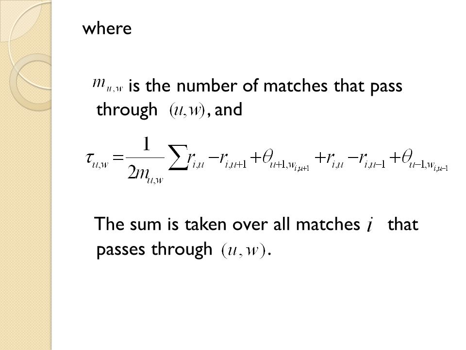 is the number of matches that pass through , and