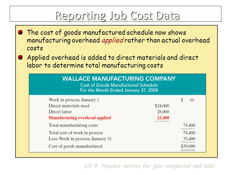 Reporting Job Cost Data