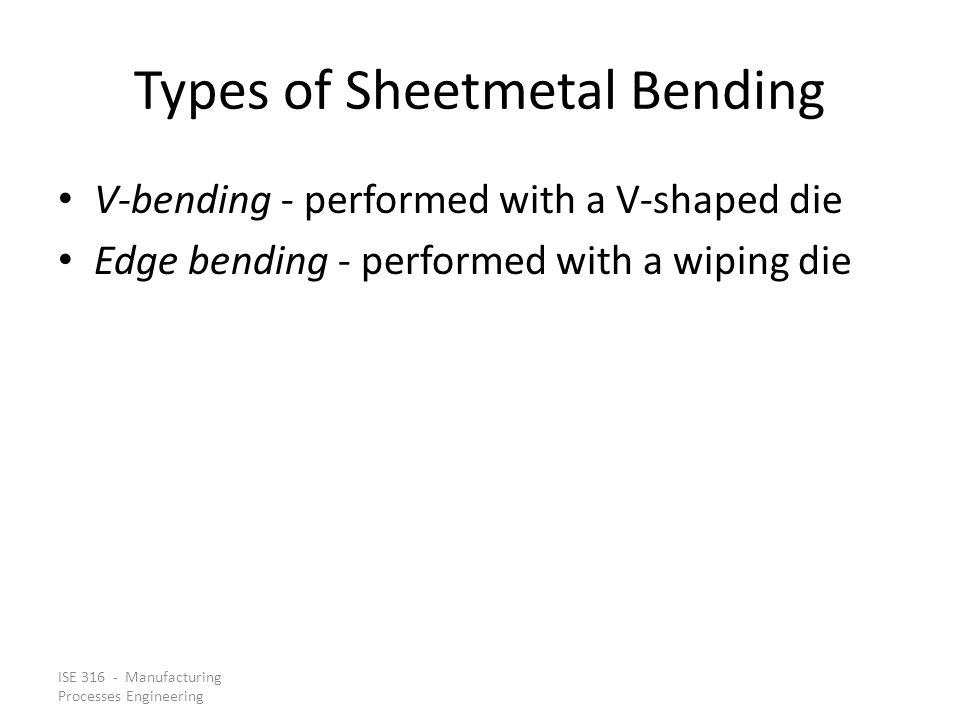 Types of Sheetmetal Bending