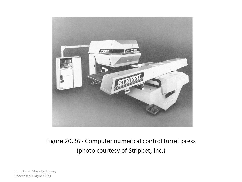 Figure 20.36 ‑ Computer numerical control turret press