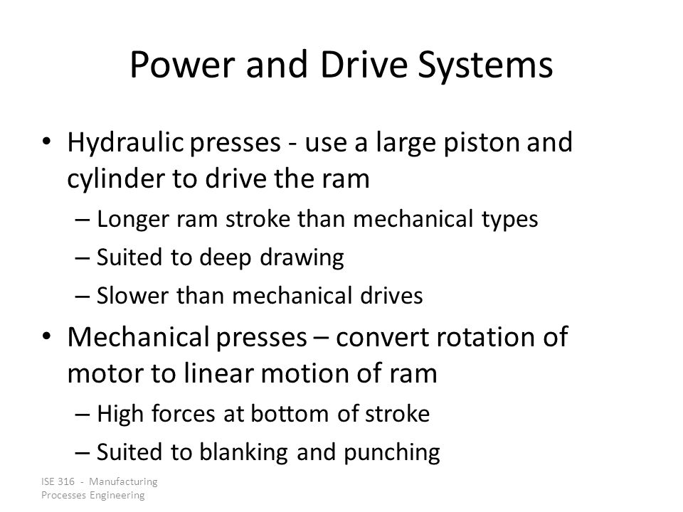 Power and Drive Systems