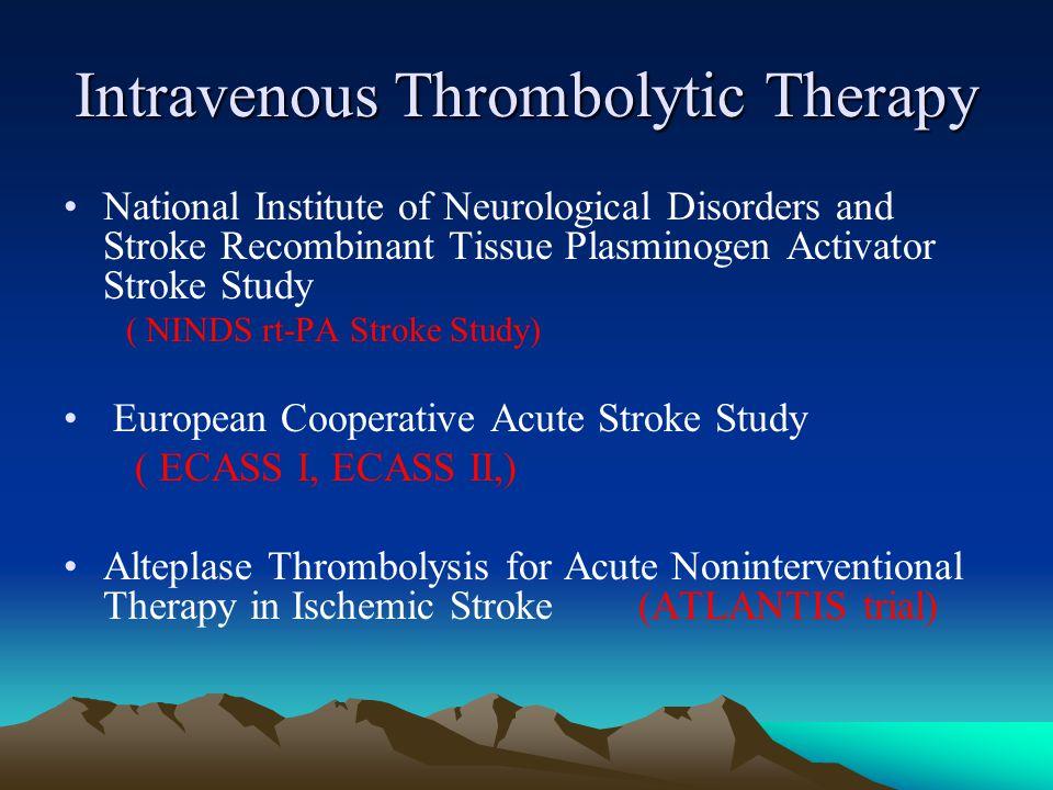 Intravenous Thrombolytic Therapy