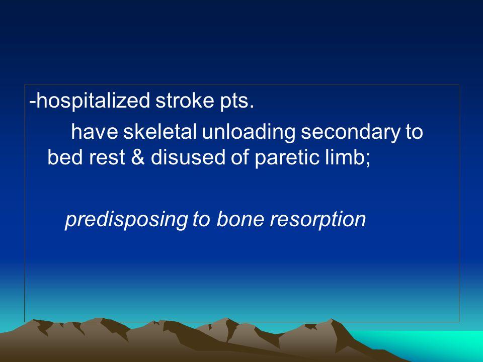 -hospitalized stroke pts.