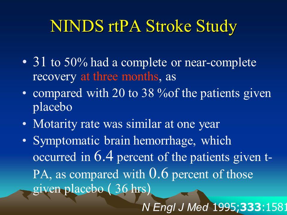 NINDS rtPA Stroke Study