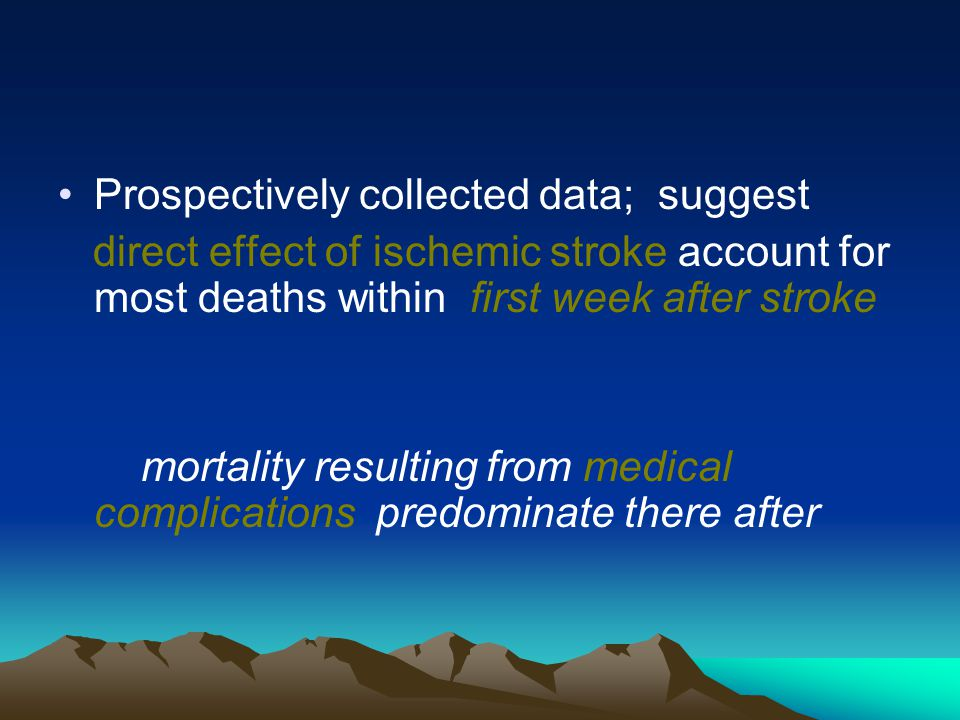 Prospectively collected data; suggest