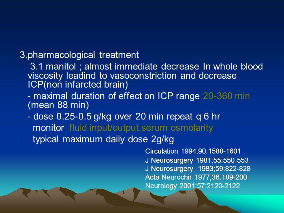3.pharmacological treatment