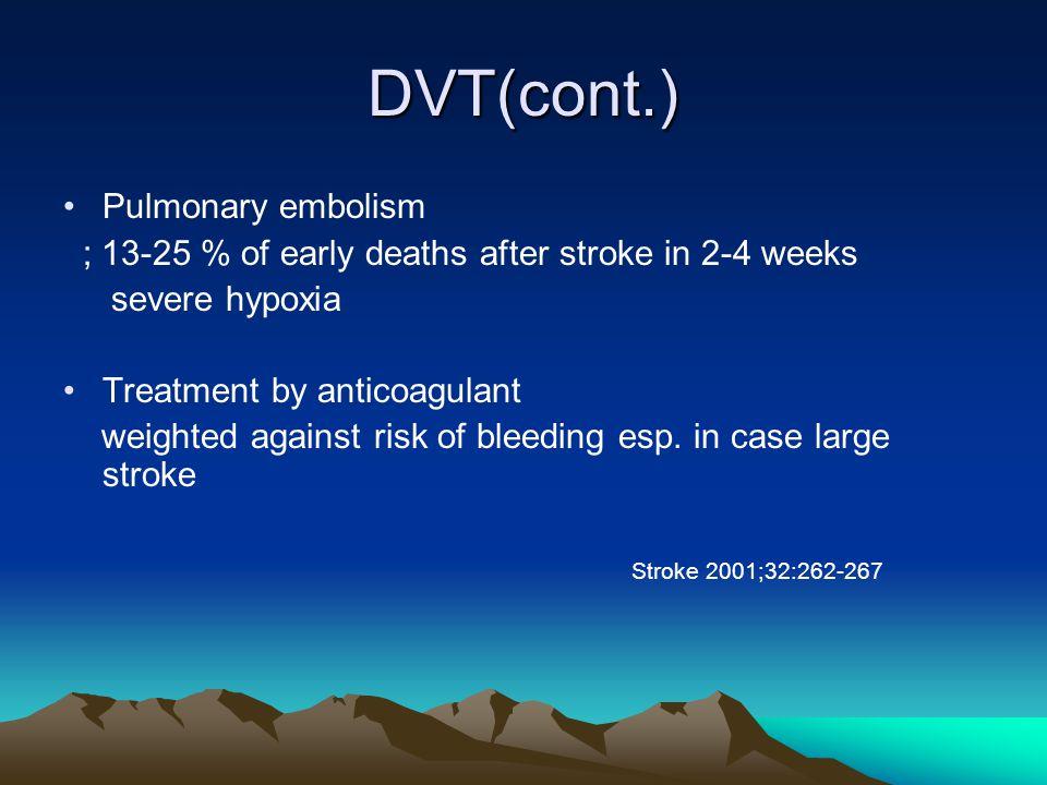 DVT(cont.) Pulmonary embolism