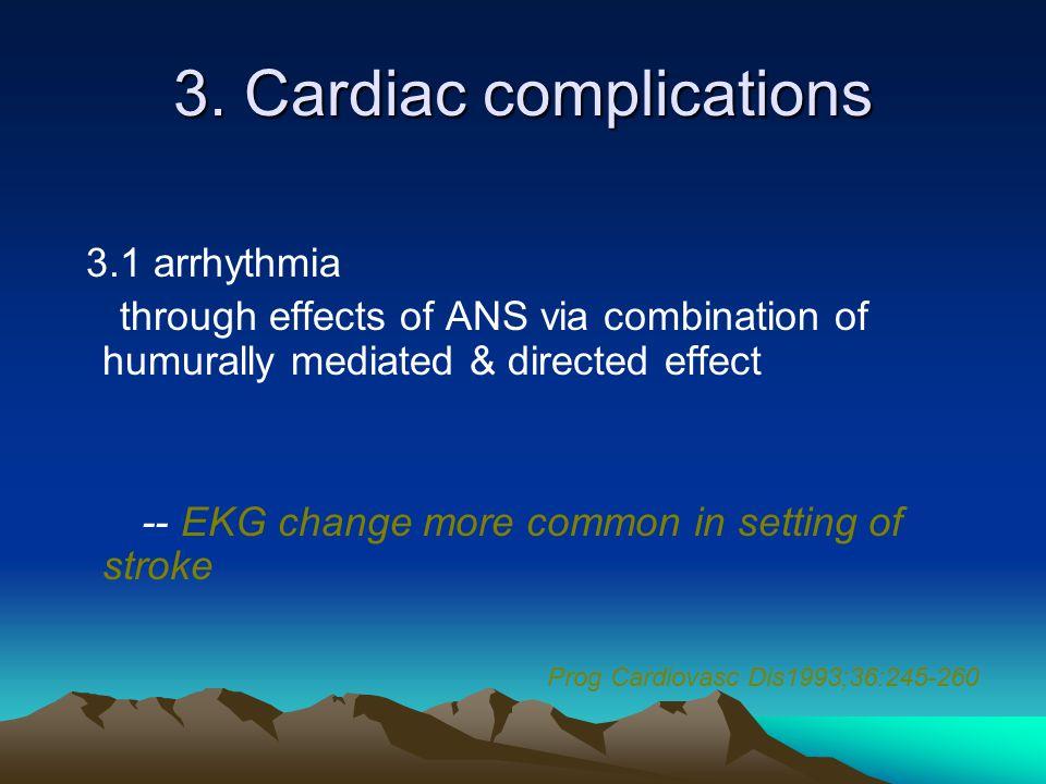 3. Cardiac complications