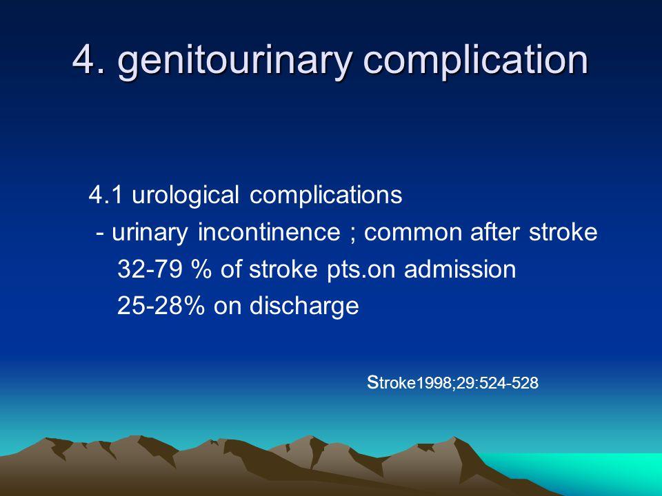 4. genitourinary complication